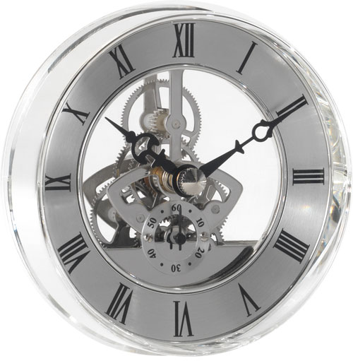 Scheleton Quartz, Battery movement Consonni, time movement with gears