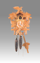 Traditional Cuckoo clock, Art.302_1N Natural color - Cuckoo melody with gong hour on coil gong