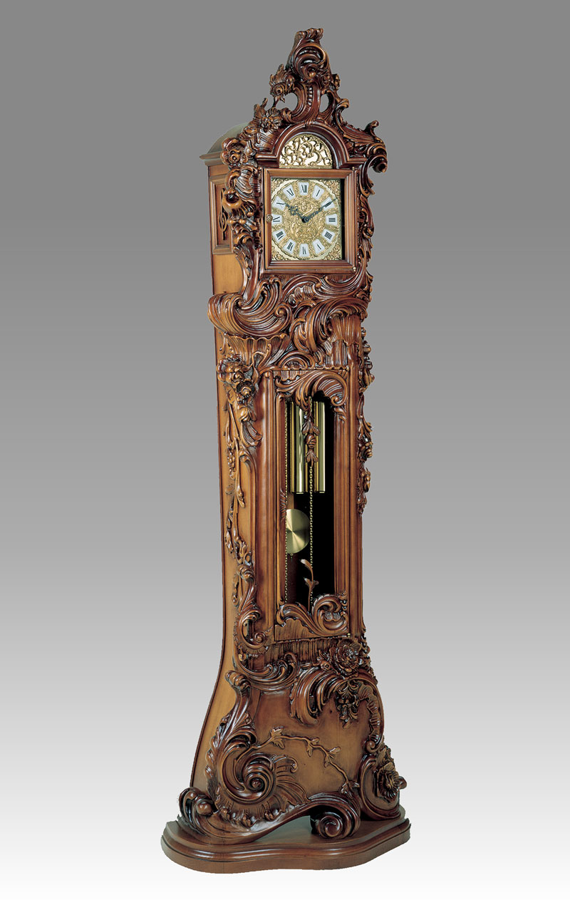 Grandfather clock Art.514/1walnut without Angel