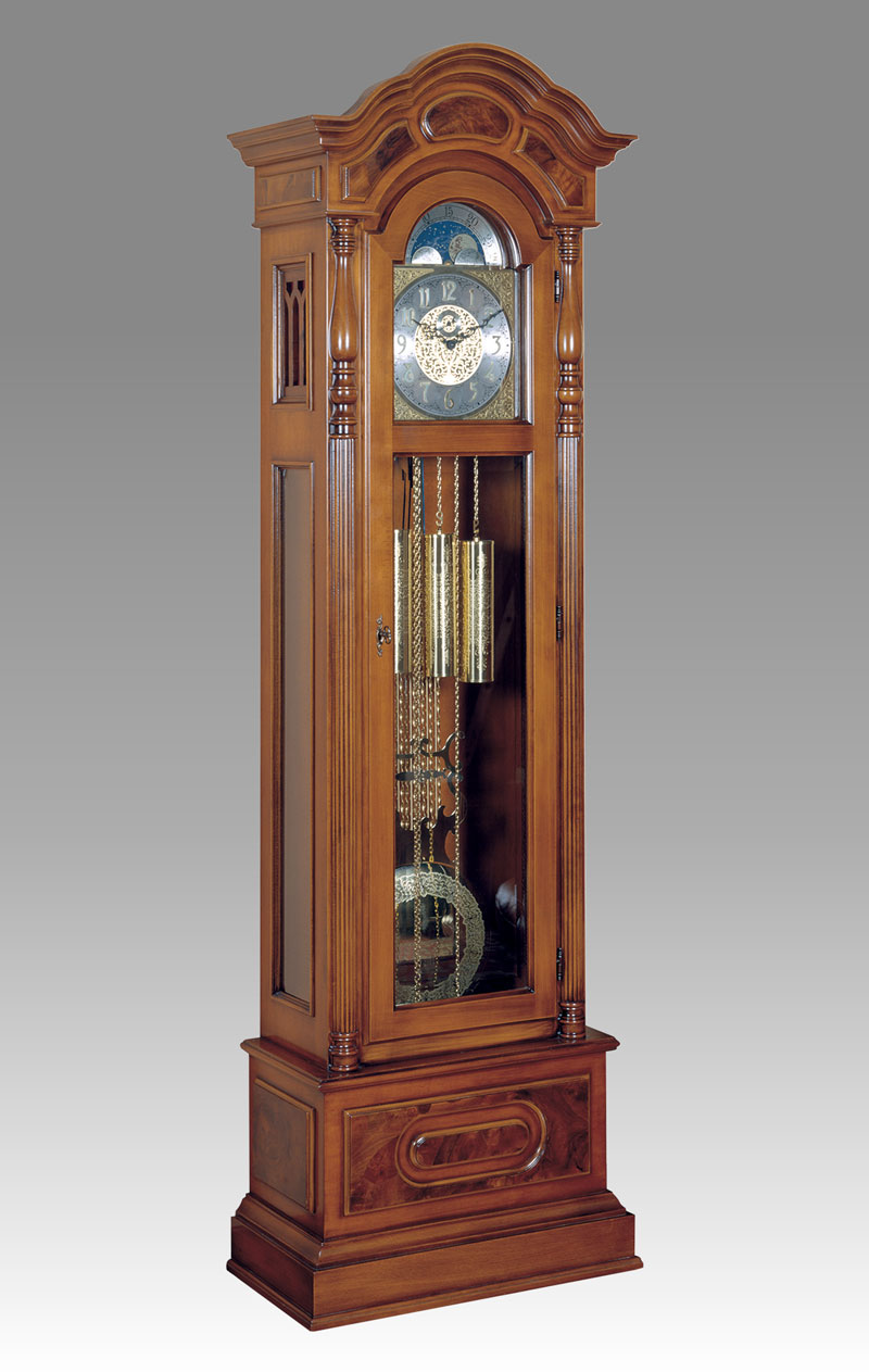 Curio Grandfather clock Art.540/1 walnut with drawers