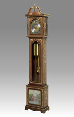 Grandfather Clock 501 walnut with gold and decoration