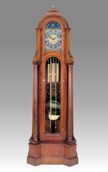 Grandfather Clock 508 maple root and cherry