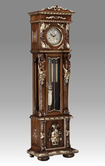 Grandfather Clock 515 walnut with gold and decoration