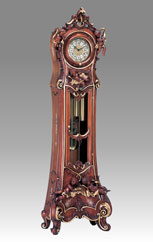 Grandfather Clock 530 walnut and gold 5angels
