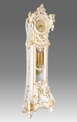 Grandfather Clock 530 lacquered and decorated 5angels