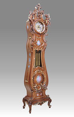 Grandfather Clock 531 walnut and gold 2angels