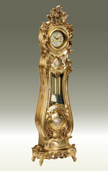 floor clock Art.531/7 all Gold leafe hand-decorated without angel