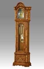 Grandfather Clock 539 elm root inlay