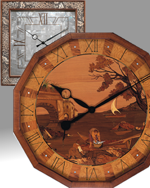 Wall Clock, Quartz Clock, Battery Clock, Inlay Clock, matherpearl Clock, Leather Clock, Wood Clock