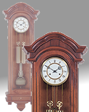 Mechanical regulator clock; wall clock;