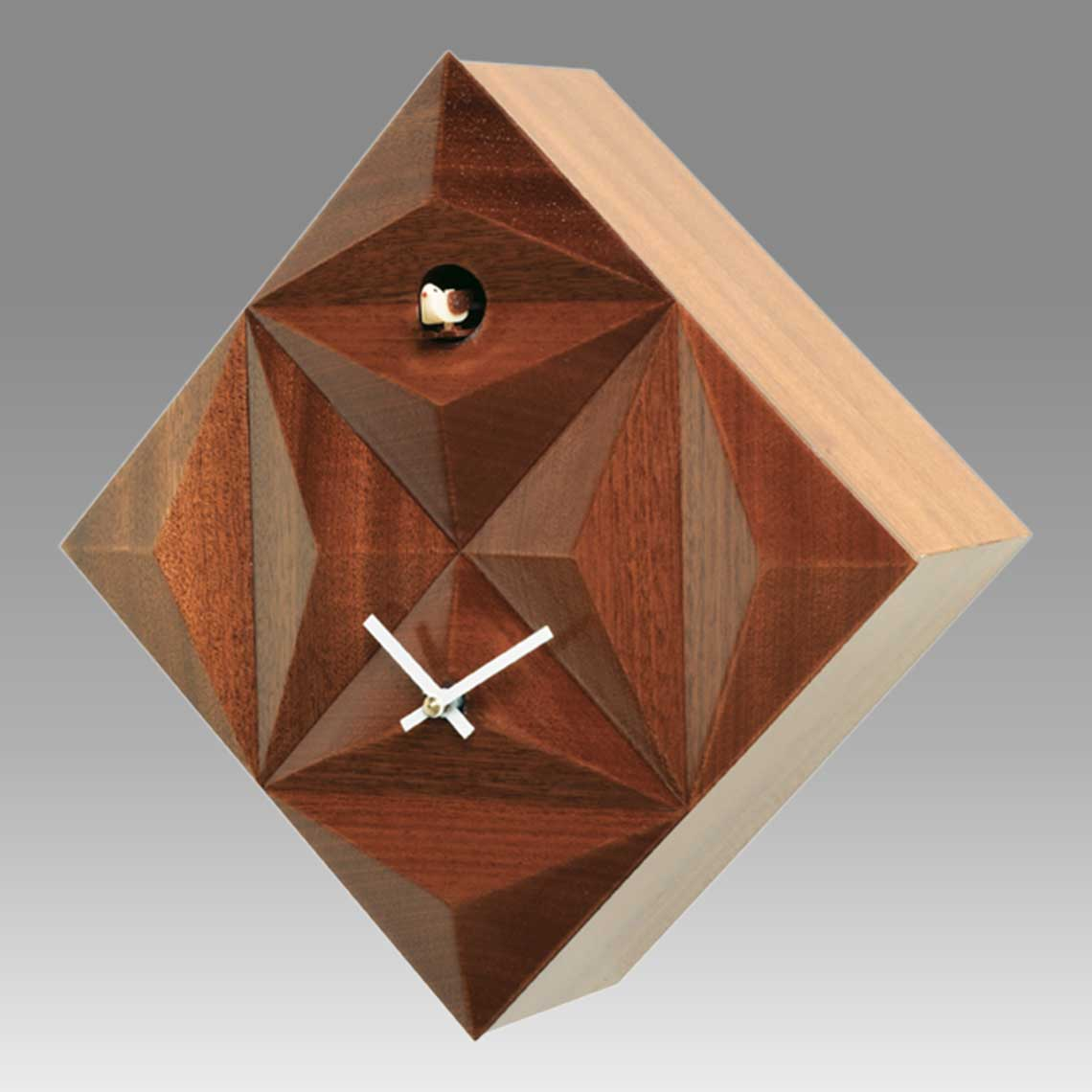 Modern cuckoo clock Art.supernova 2400 lacquered with acrilic color mohogany